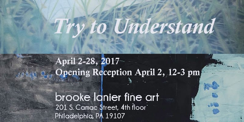 """Try to Understand"" will be on view through April 28 at Brooke Lanier Fine Arts in Center City Philadelphia.  This fascinating exhibition brings together paintings and photographs by David Aipperspach, Paula Cahill, Laura Krasnow, Brooke Lanier, Yanlin Li, Sarah Pater, and Tamsen Wojtanowski to explore our human capacity to cope with chaos and disorganization through our innate drive to search for pattern and structure.  Contact Brooke or Paula hours or to schedule a private appointment."