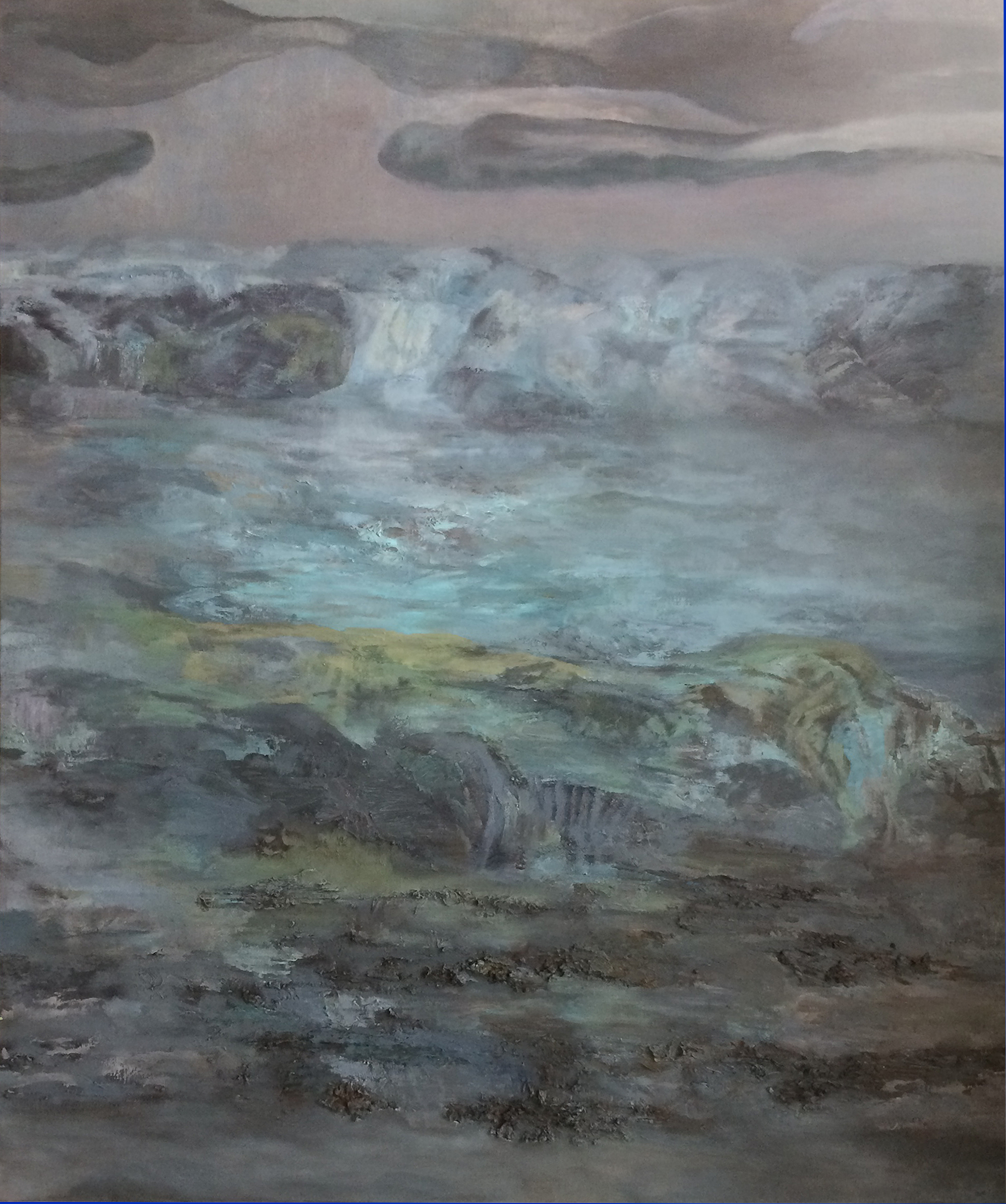 Torrent,  60 x 22 inches, Oil on Canvas, 2019