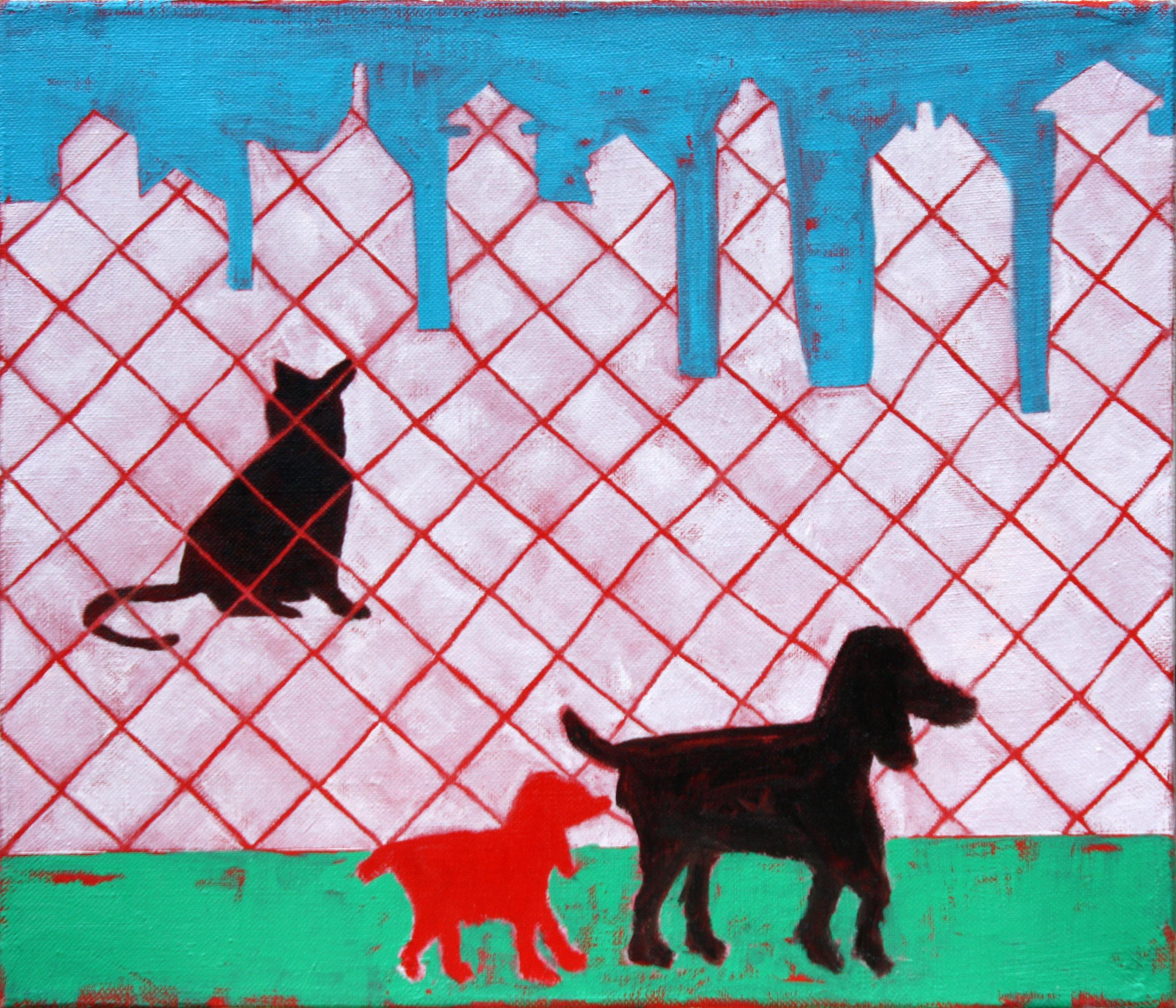 Dog Park,  Oil on Linen, 12 x 14 in.