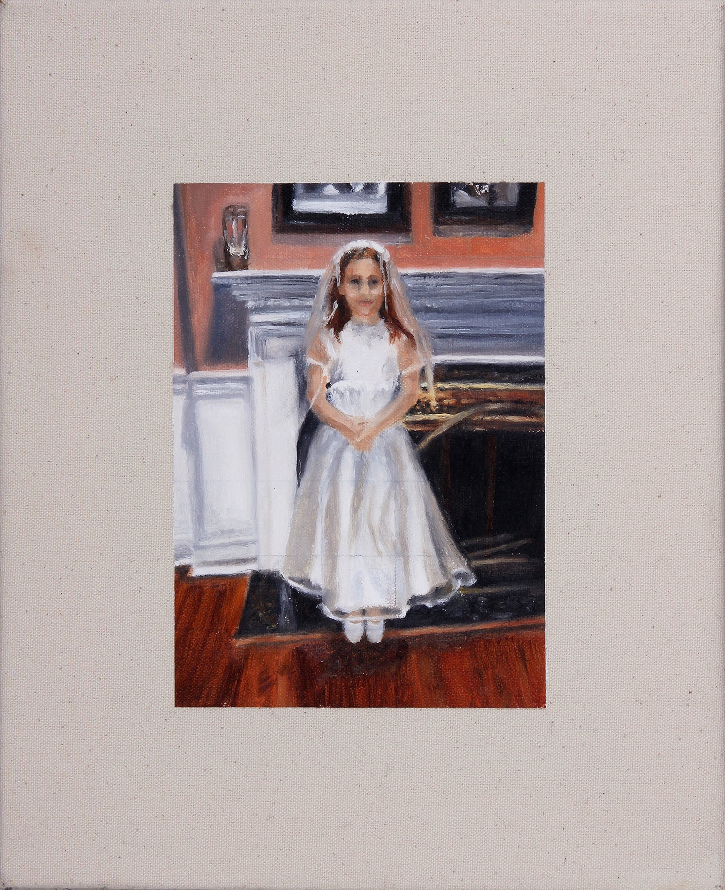 Communion, Oil on Canvas, 14 x 10 in.