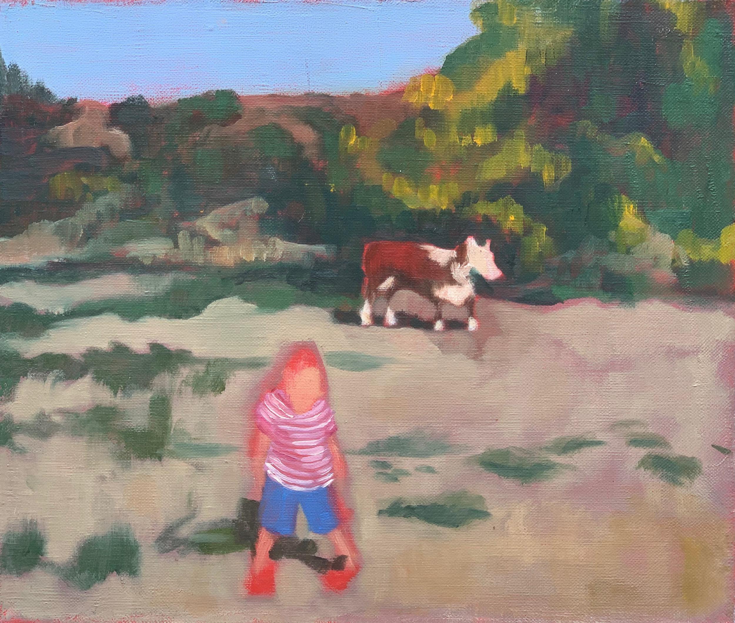 Cow Boy,  Oil on Linen, 12 x 14 in.
