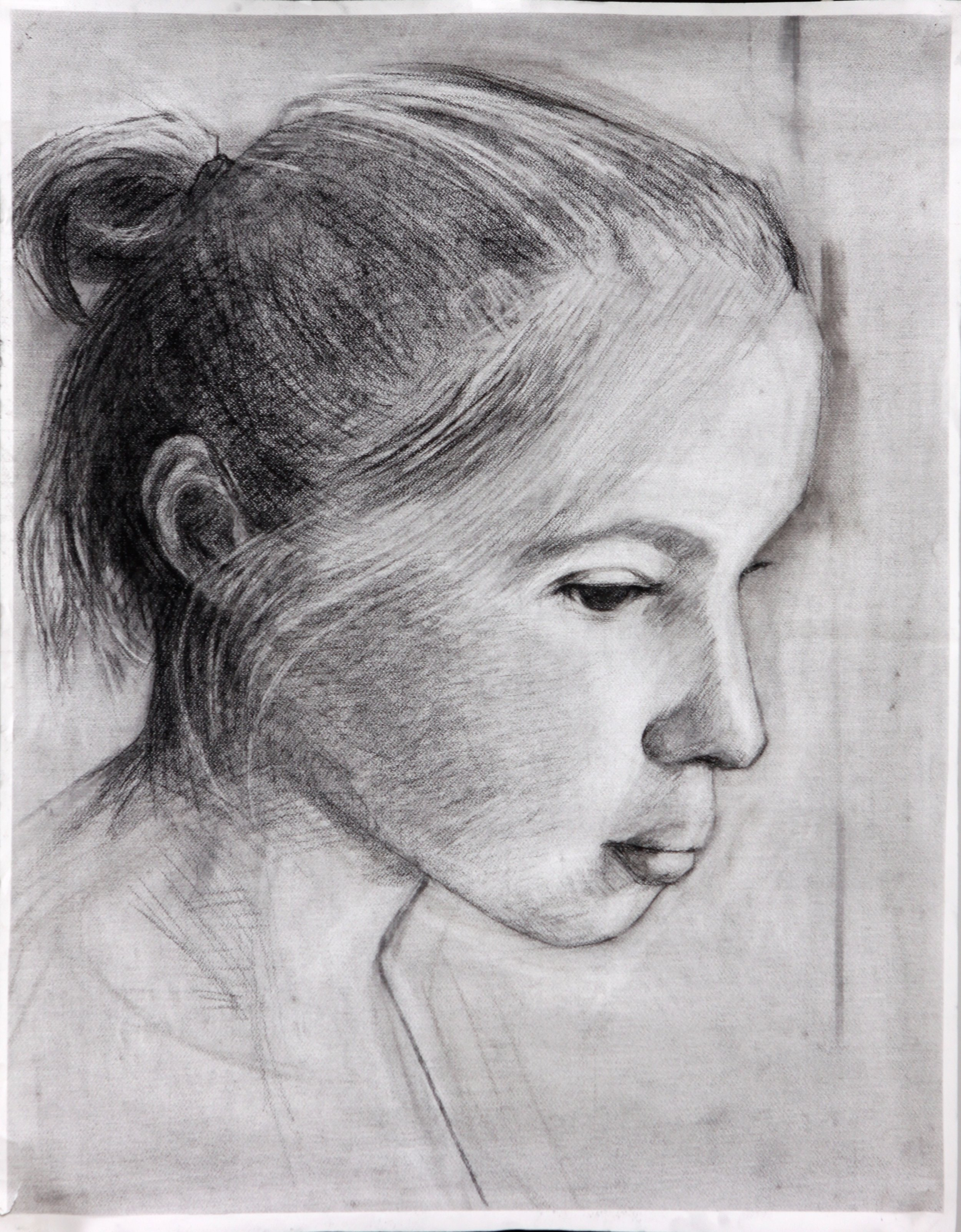 Kimberly,  Charcoal on Paper, 24 x 18 in.