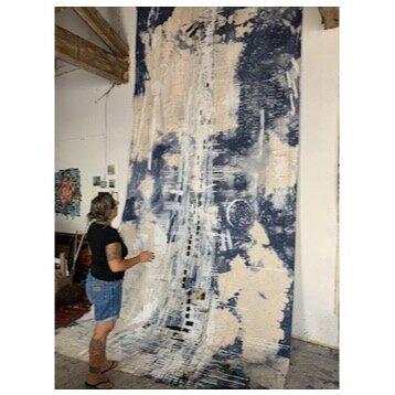 Ana Vizcara Rankin and  Blockchain Bootstrap  in her Viking Mill Studio, Philadelphia, PA (2019)