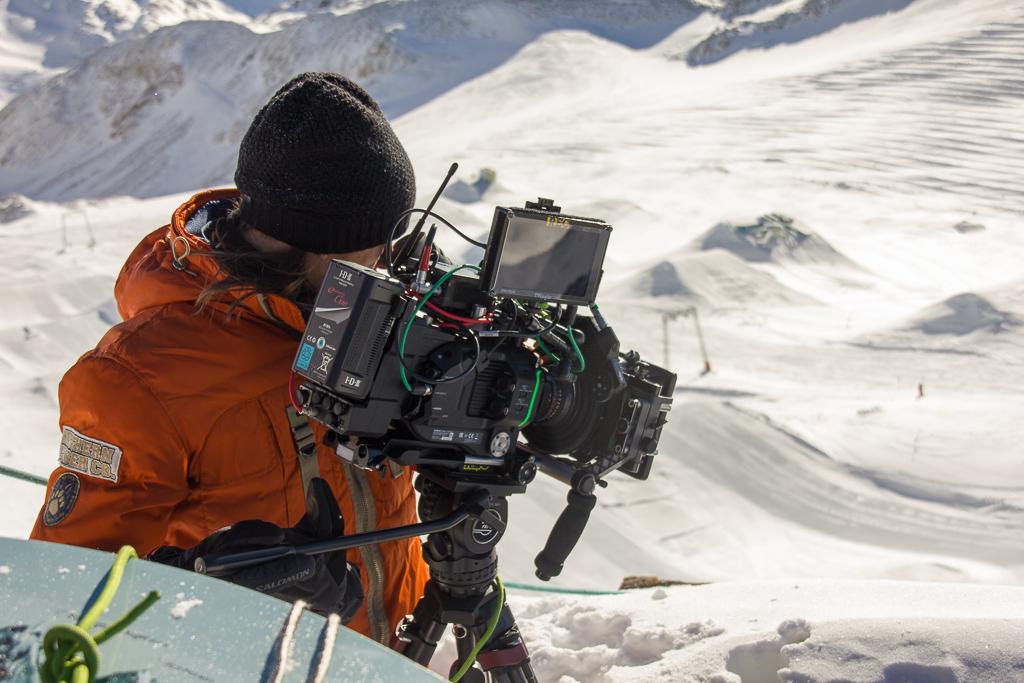 Alpine cameraman Günther in action.