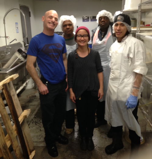 At the OFI kitchen space with some of their amazing staff : James, Butch, Brooks, Daniel