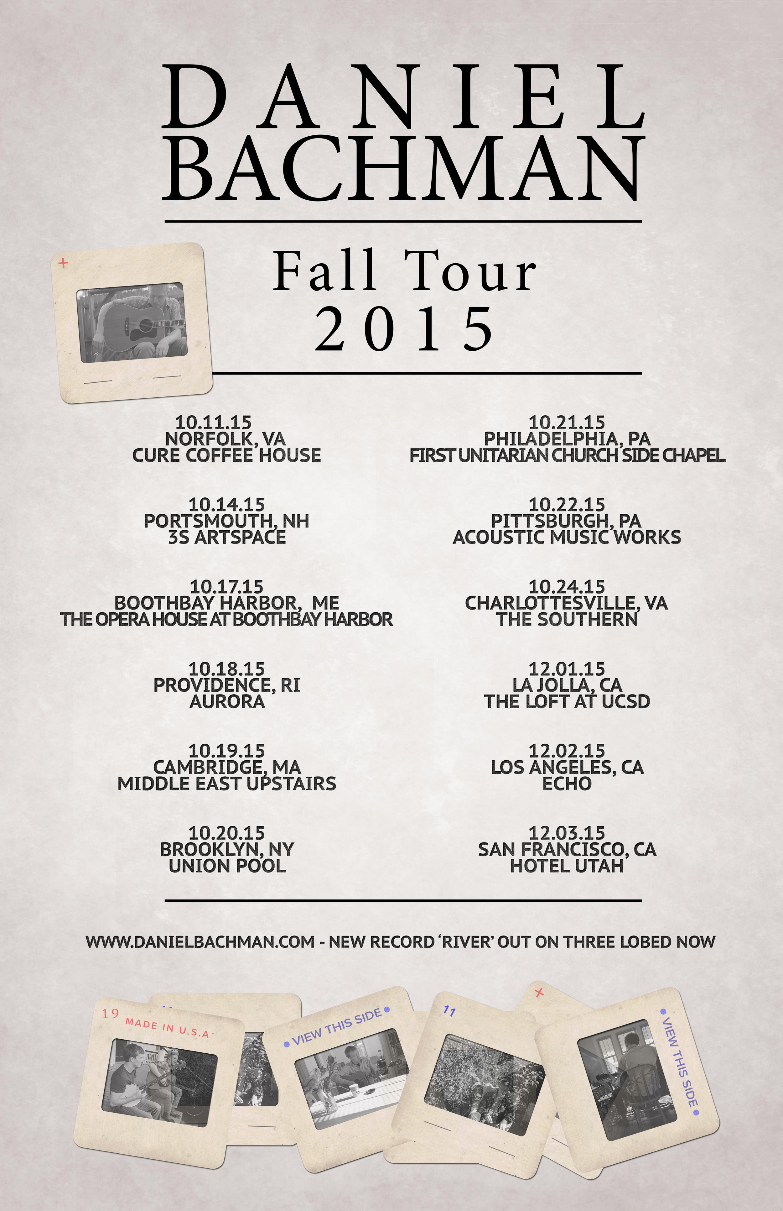 Daniel Bachman Tour Poster