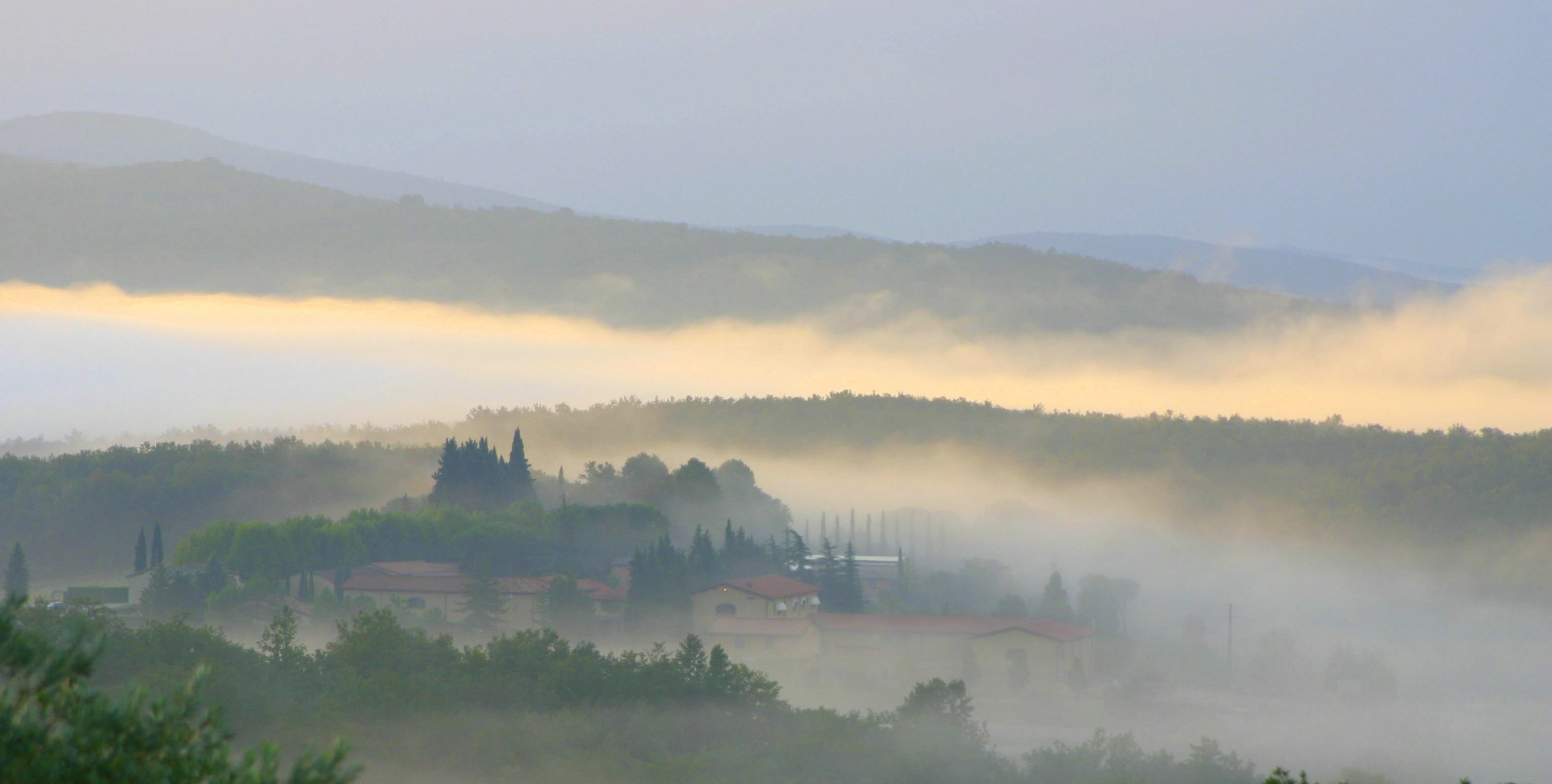 Fog in the Tuscan Hills -First Italy Trip October 2004