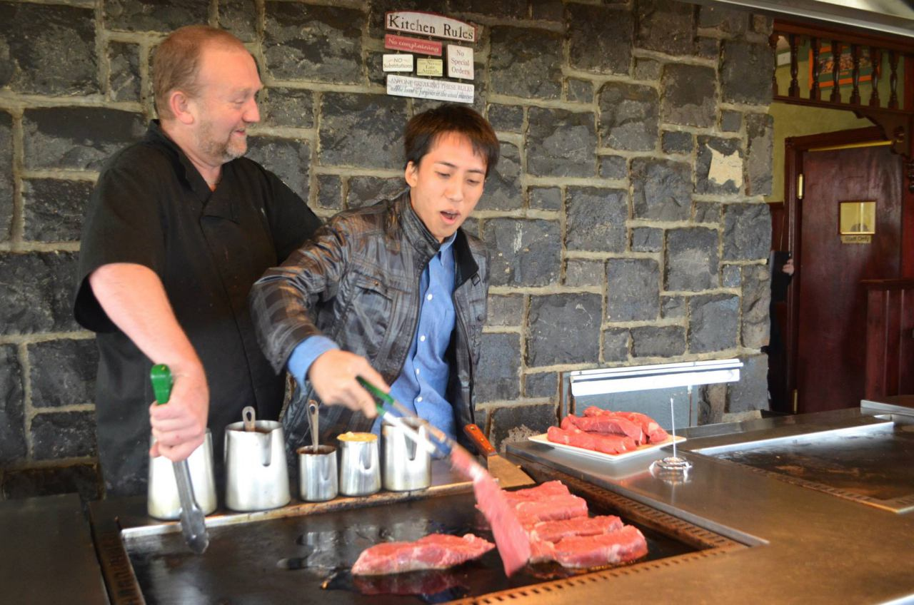 Getting hands on at a restaurant in the Yarra Valley region.