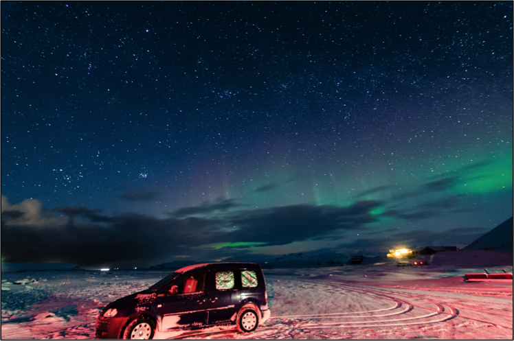 Northen Lights in Iceland. Image credits: Jacob Ma