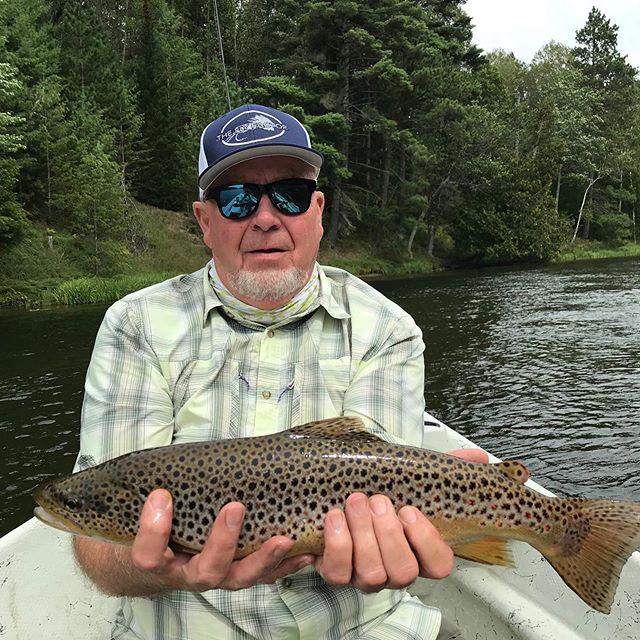 Guide Mark K getting it done.  #flyfactor #flyfishing #trout #northernmichigan #streamerjunkie