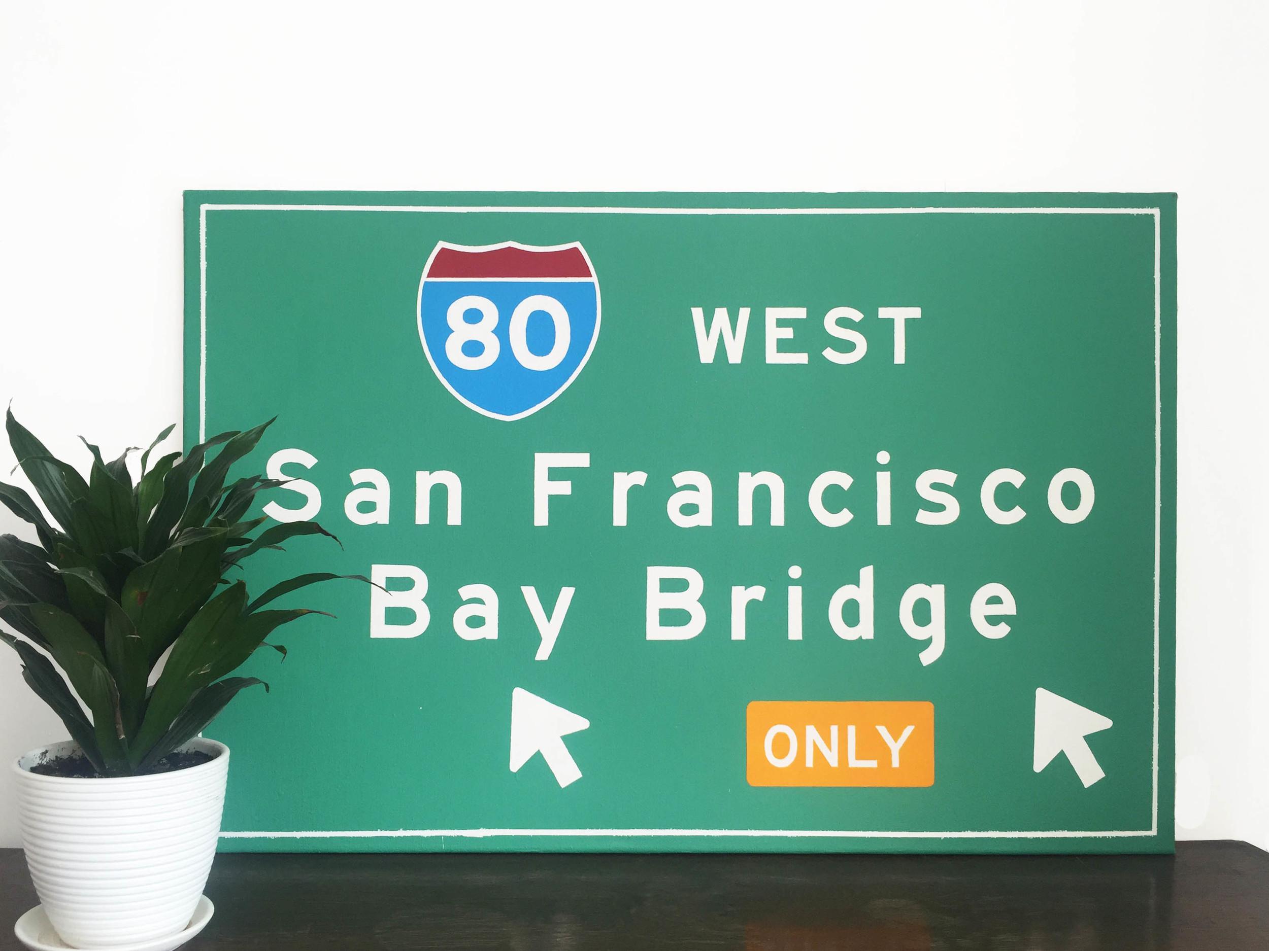 """San Francisco #1"". Acrylic, canvas, 36"" x 24"""