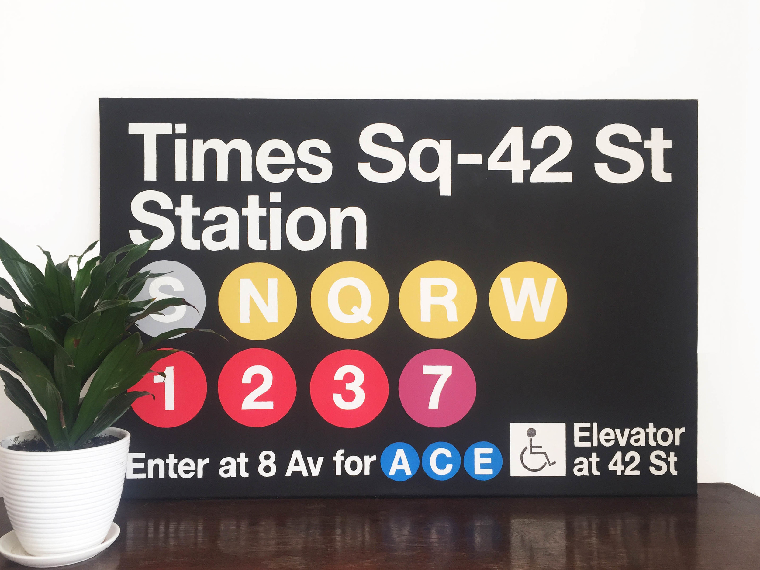 """New York #1"". Acrylic, canvas, 36"" x 24"""