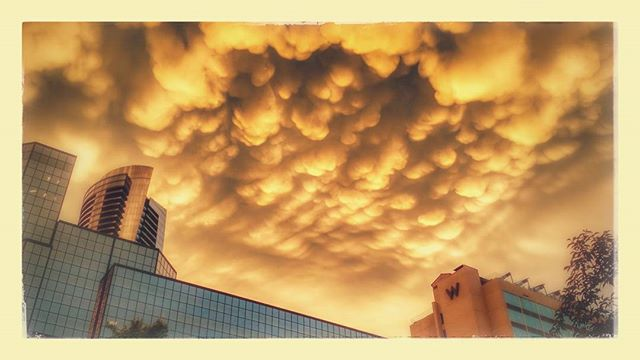 The color and #clouds after the storm.  The #Art of #Atlanta #Airconditioning