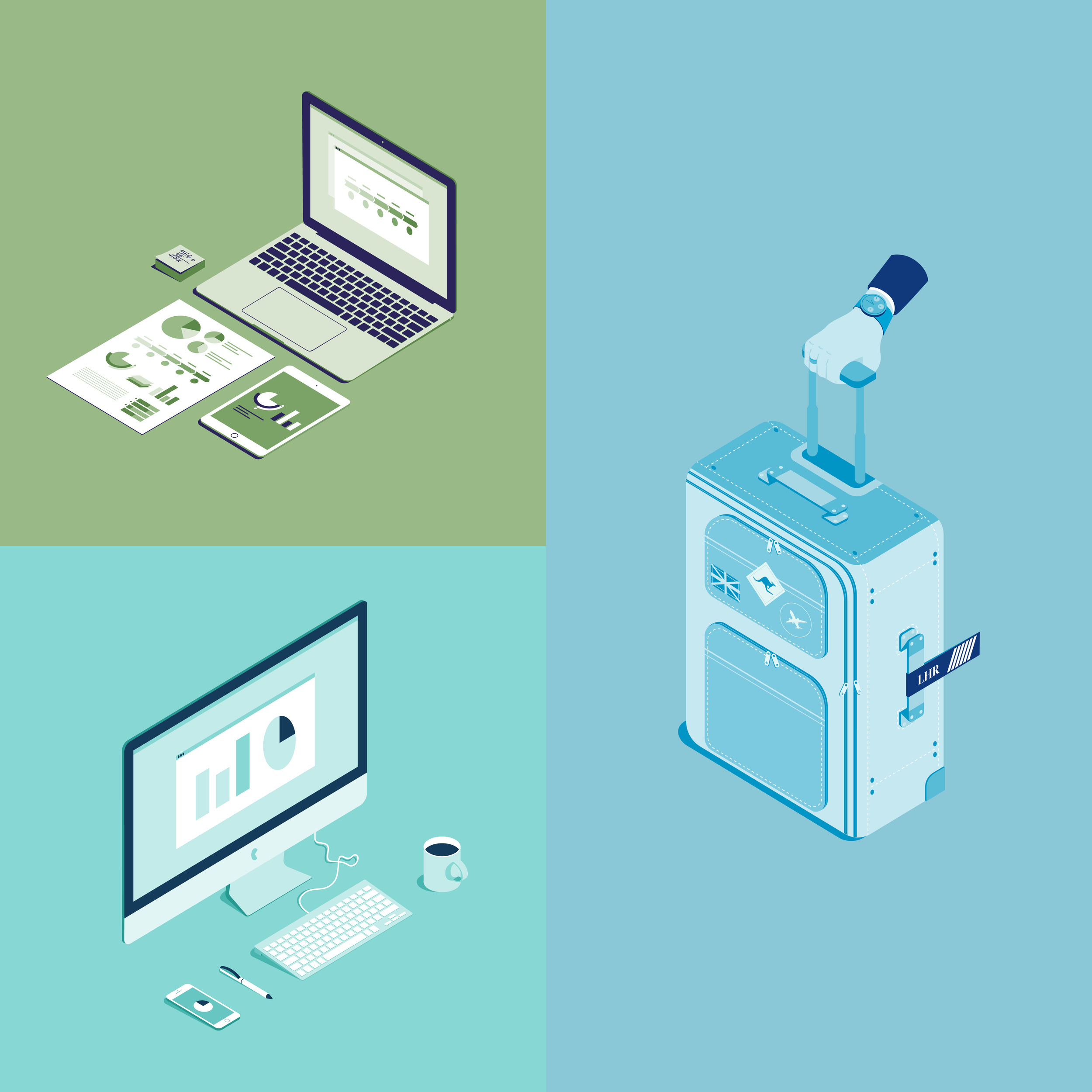 Set of illustrations for the OT-24 website subcategory    Client: company  OT-24     Production year: 2015