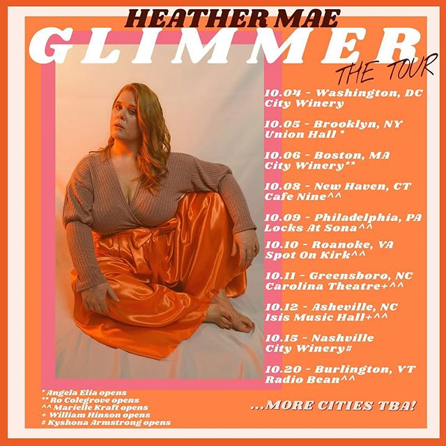 Alright friends. It's Friday, we're feeling good, we survived this week, and we have exciting news to celebrate: I will be opening for this powerhouse @heathermaemusic at @unionhallny on OCTOBER 5th! . It's not only a super exciting new venue for me, but I'm so honored that Heather asked me to help open her show. She's an artist I look up to so much, and if you don't know her yet, I'm pretty sure you're gonna fall in love with her at this show. . Tickets are AVAILABLE NOW (and no joke it's likely this will sell out in advance) so you can get yours at the link in @heathermaemusic bio ♥️ .  PS @instagram hates me and won't let me update my own link. 😡