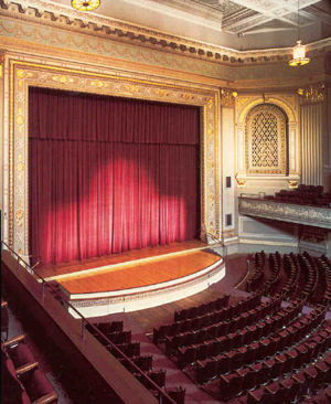 1,900 seat theater- with superior acoustics, the theater is ideal for music, dance,theatical productions, lectures and more