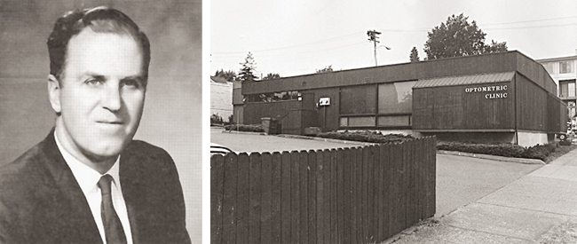 Image 1:  Dr. Robert Jamieson, the founder of Roosevelt Vision.      Image 2:   Our clinic has been situated in its current location since 1975.