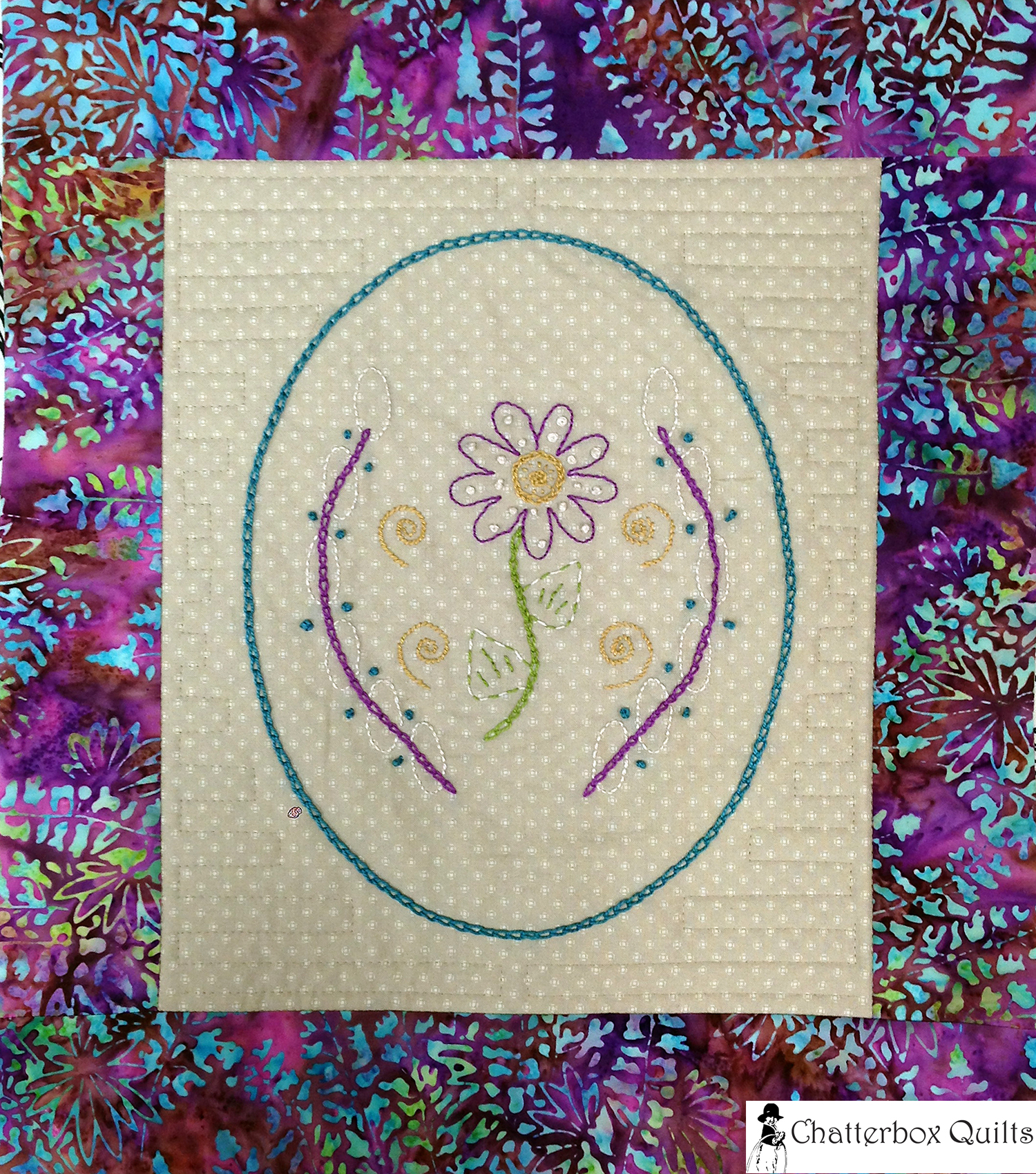 Floral Oval by Chatterbox Quilts in the Spring 2015 issue of Quilter's Connection Magazine