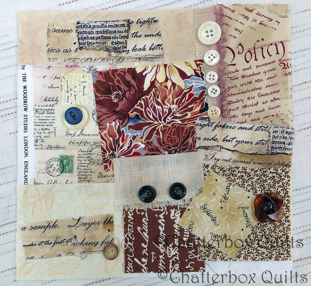 I got the idea for this mixed media collage from browsing on-line.