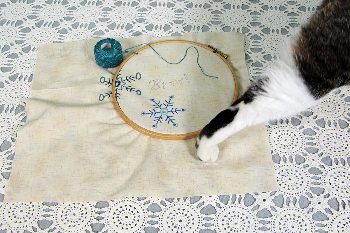 Tech on Brrr Snowflake embroidery by Chatterbox Quilts