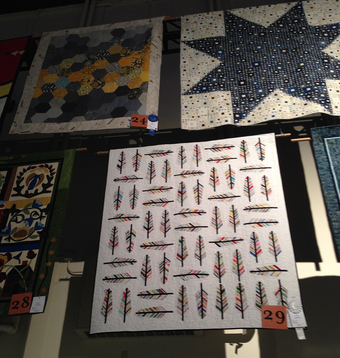 Some of the quilts in the competition.