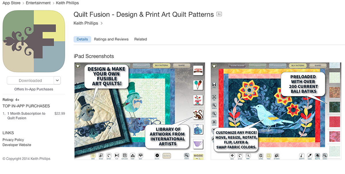 Photo courtesy of www.quiltfusion.com