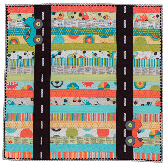 On the Road Again from Sew Sweet Baby Quilts by Kristin Roylance, Martingale, 2015; used by permission. Photography by Brent Kane. All rights reserved.