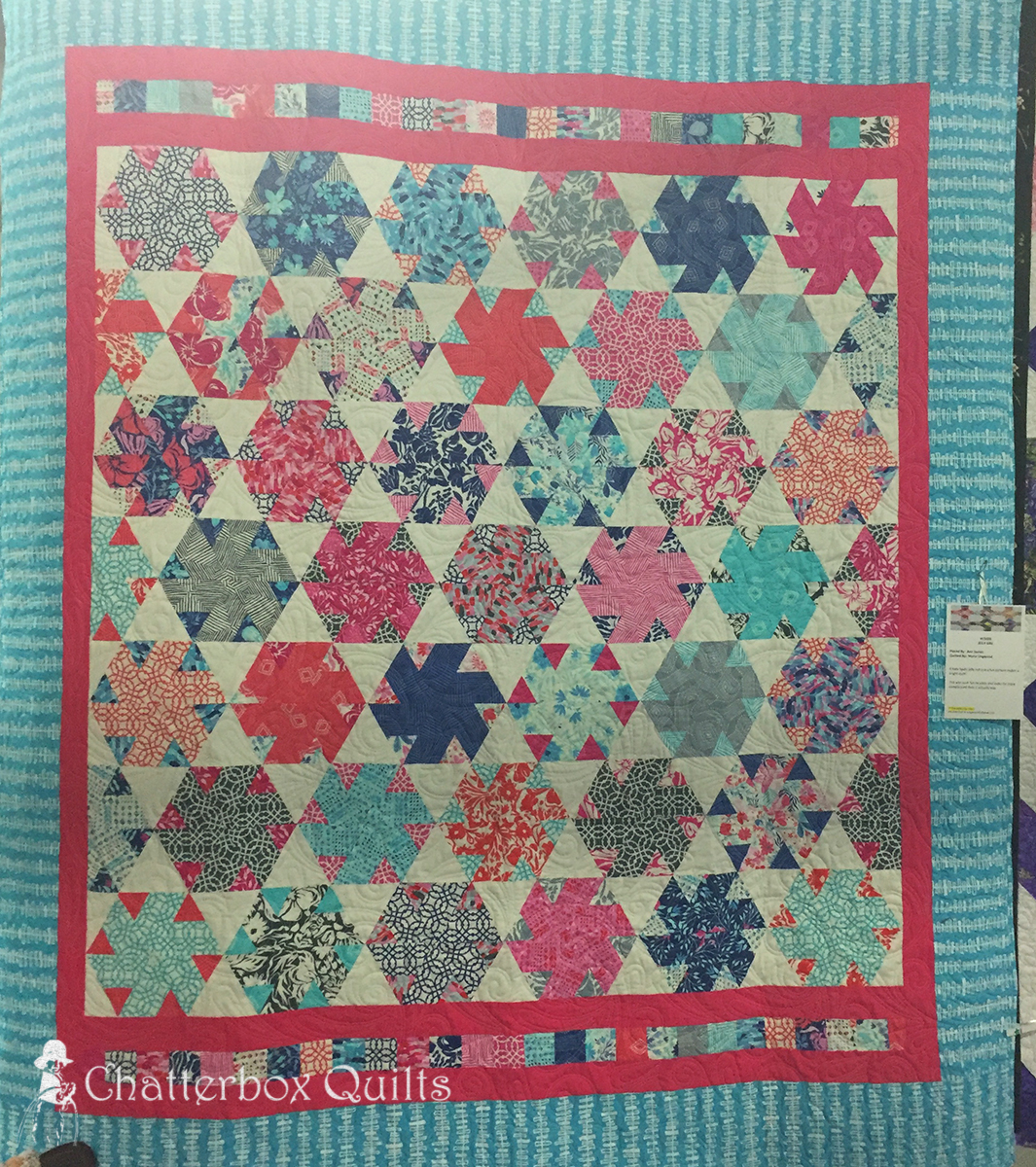 Jelly Girl by Ann Symes; quilted by Marie Lingwood