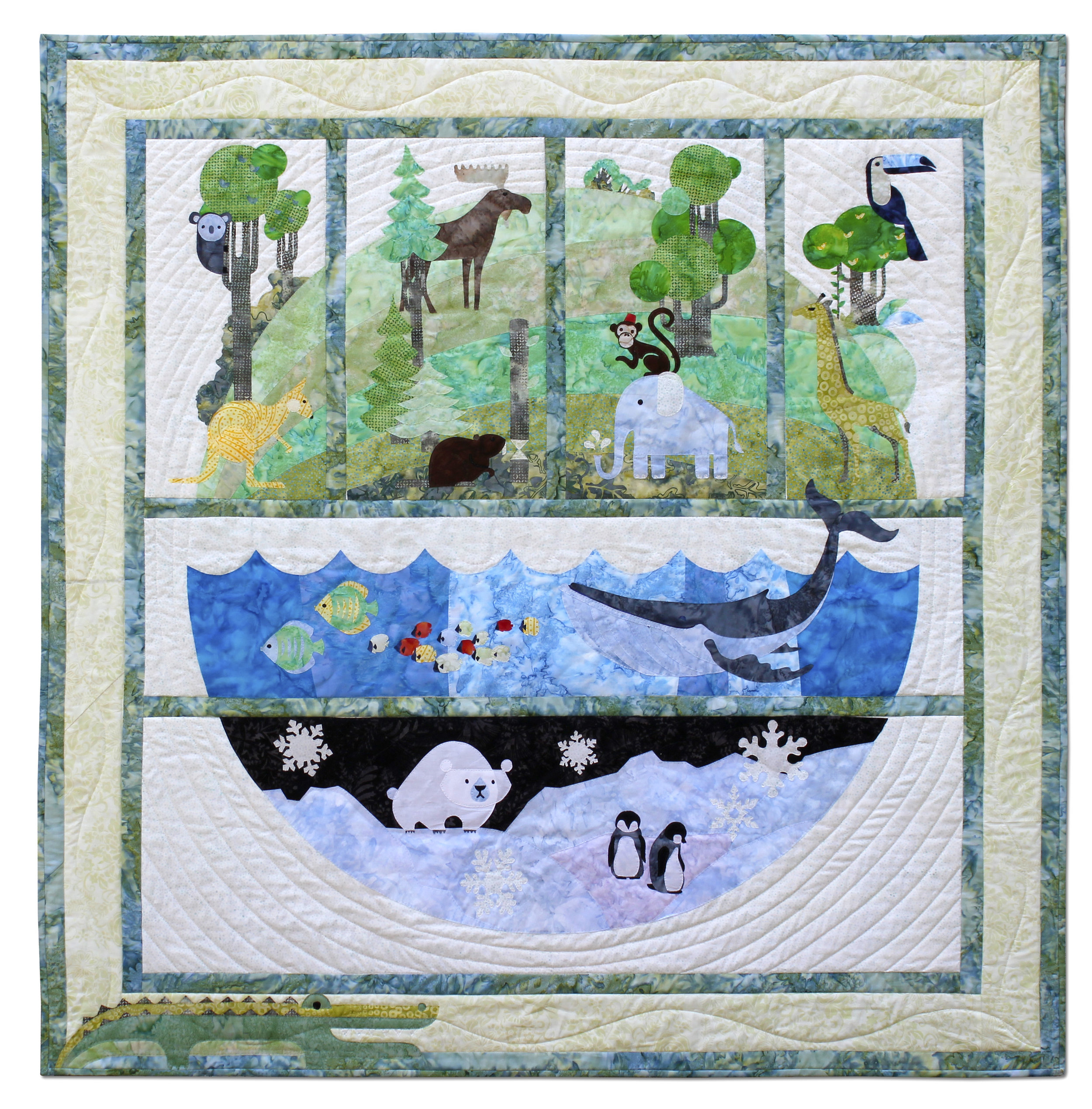 Keith's version of the One World quilt