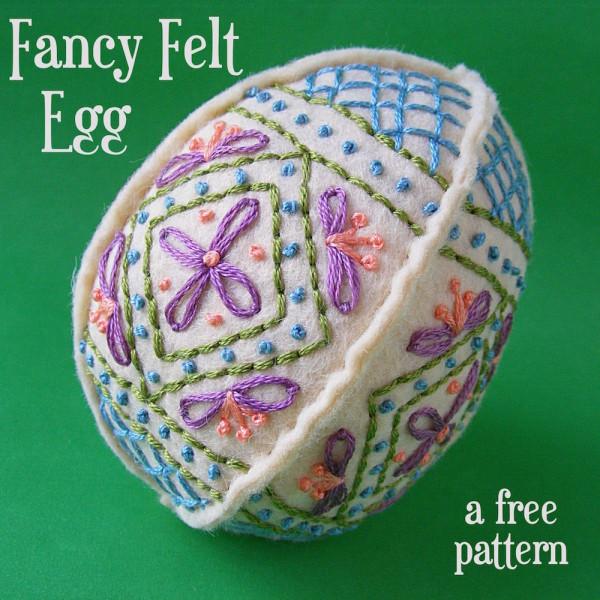 Fancy Felt Egg from Happy Shiny World