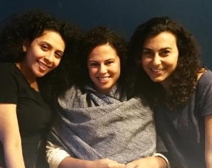 Mari with her on set sister & mother in  Zero Sum .