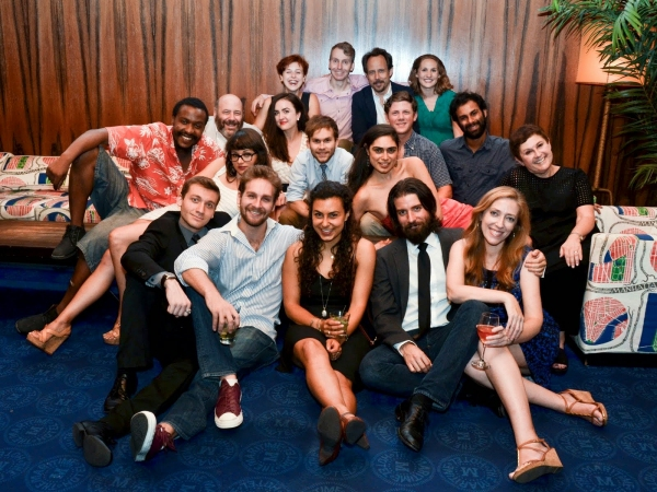 The cast of  Pentecost  on opening night ( Broadway World Photo Flash )