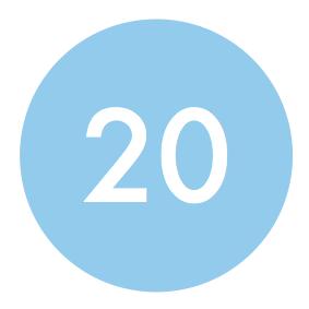 Bij 20 bestellingen wordt uw logo gelinkt naar uw website