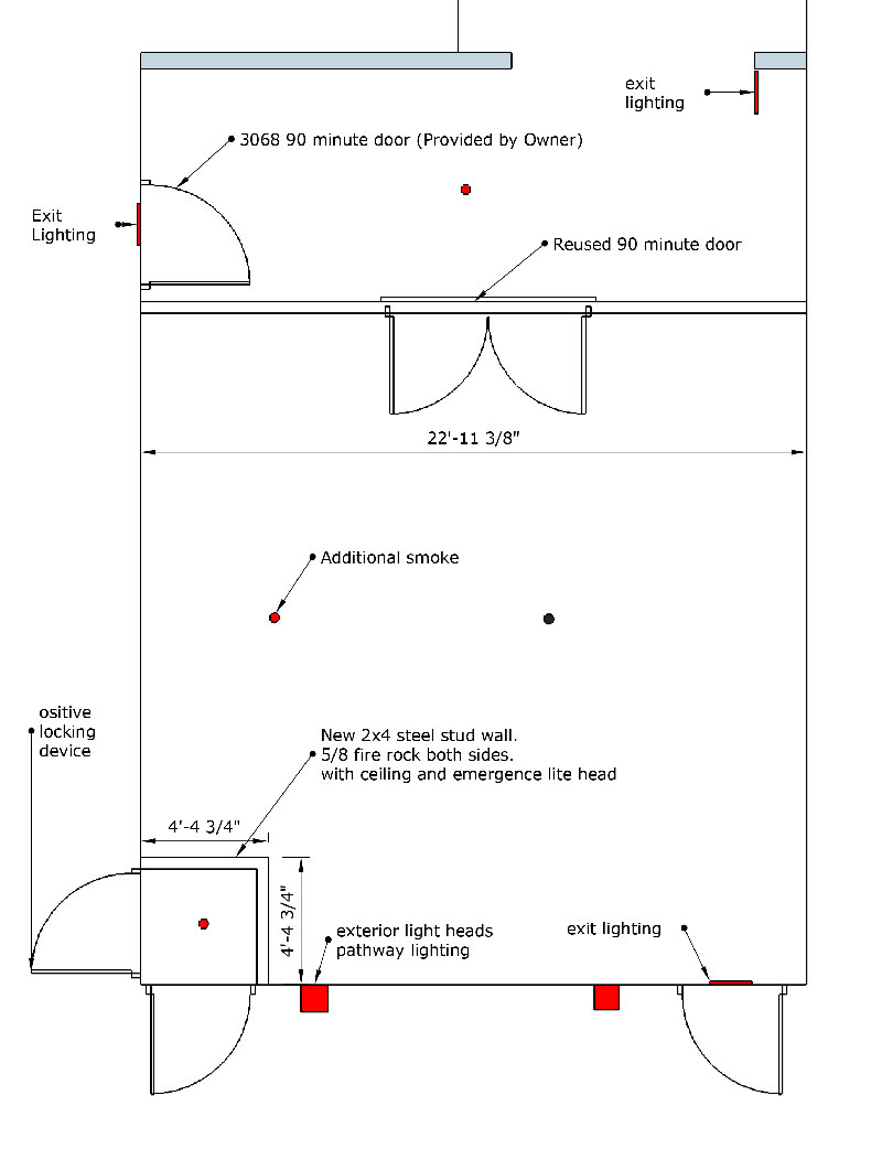 Second egress plan and necessary changes