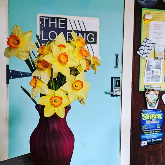 Thanks to whoever left us such sweet surprise flowers outside the loading dock! #loveyourcommunity