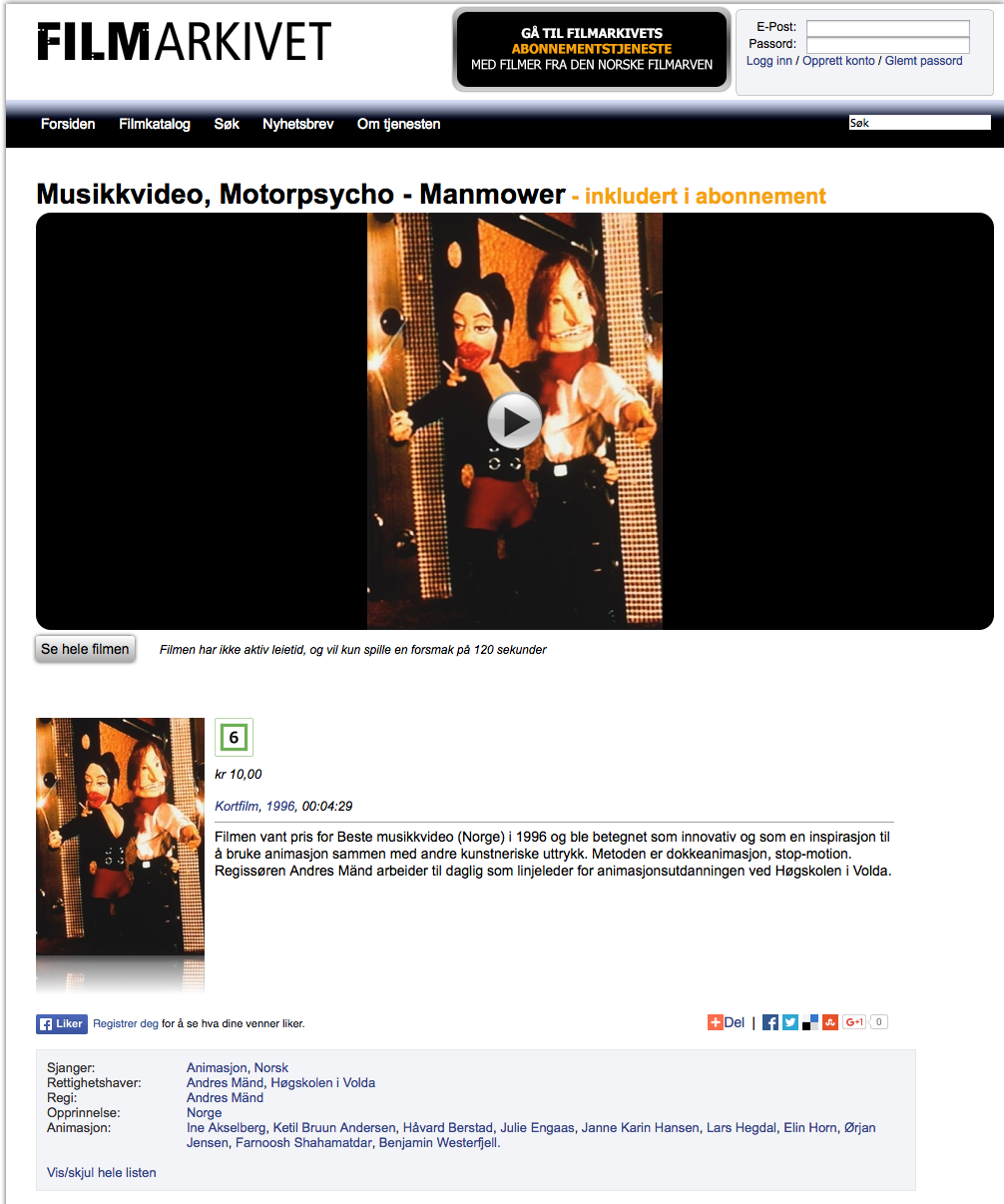 Animert Musikkvideo, Motorpsycho