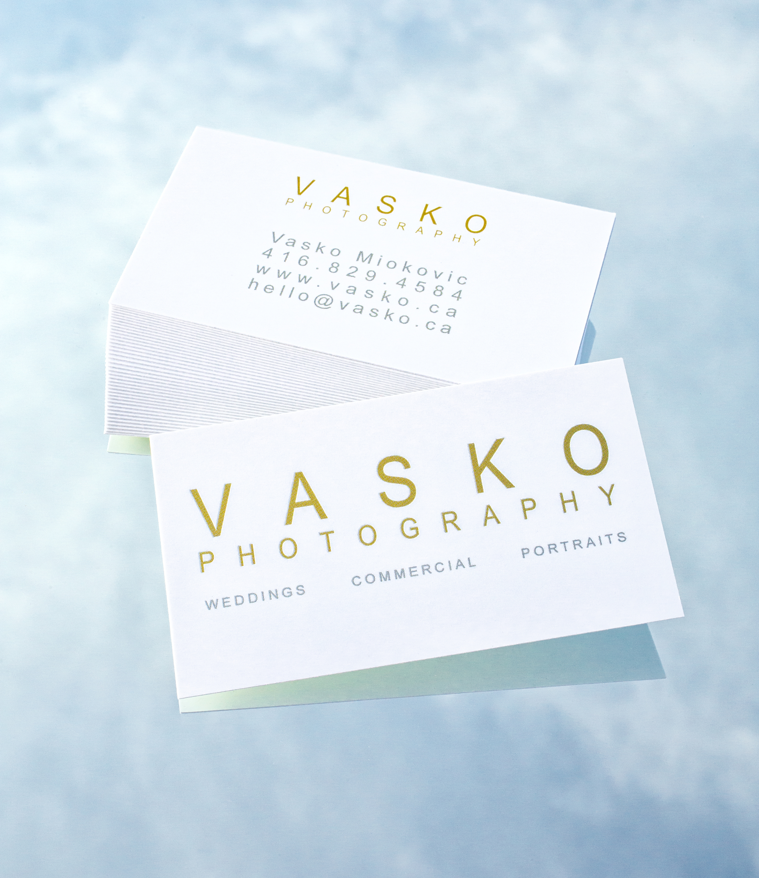 Vasko Photography Toronto Wedding Photographer business cards
