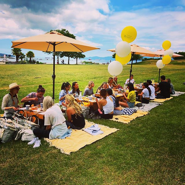 Having a little picnic party at Sunset Beach today!  Thanks Garnier!