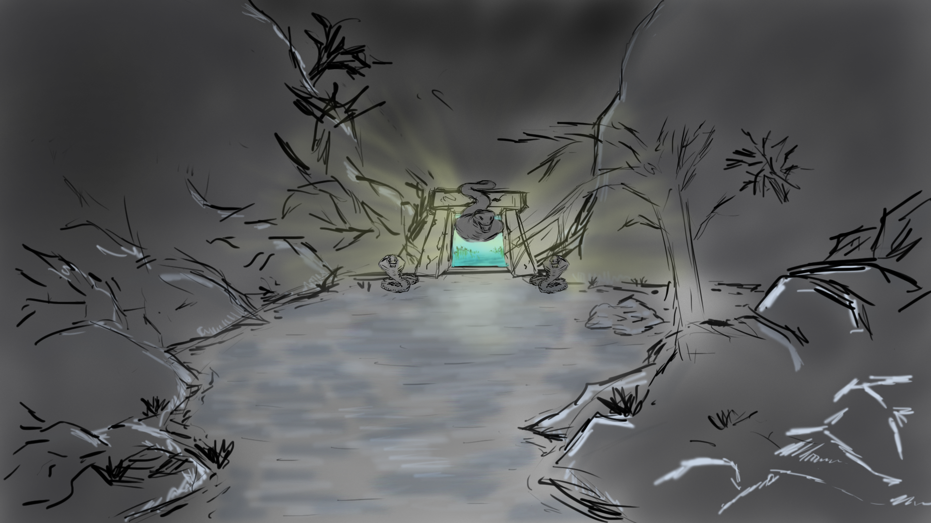 Initial Land of Night concept