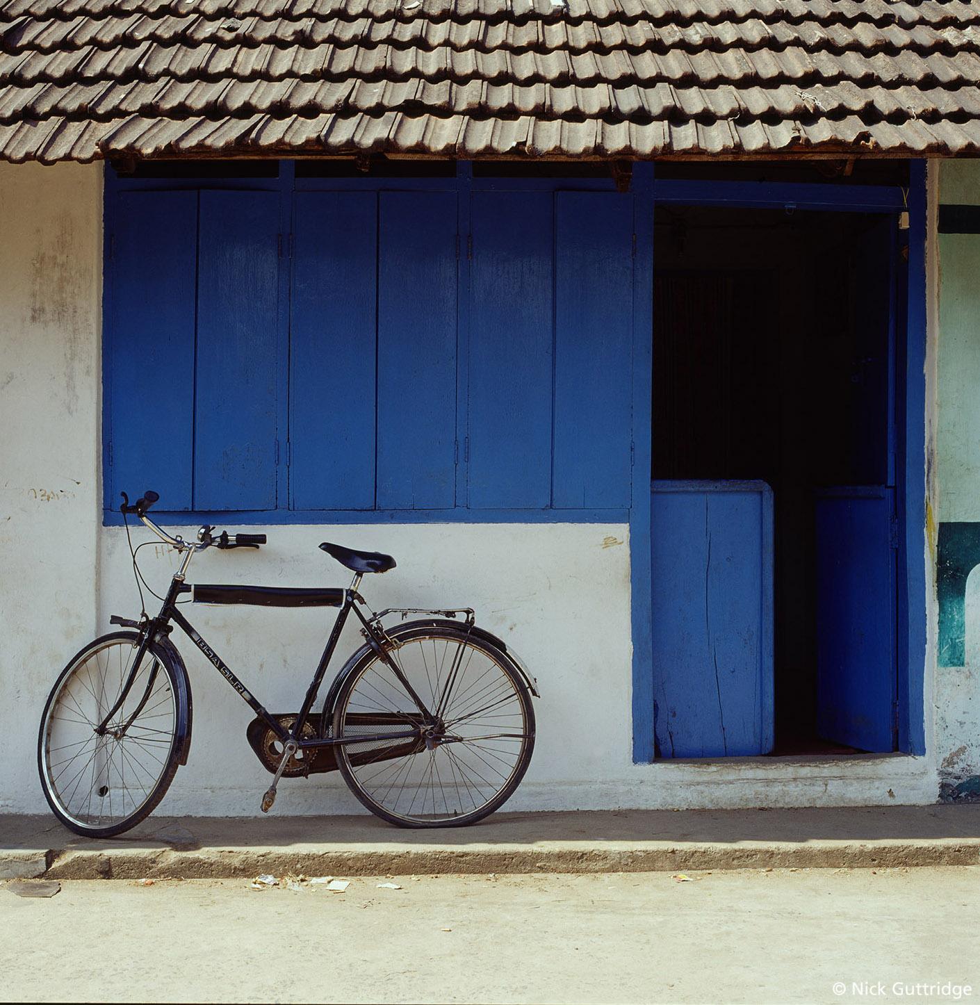India Blue House with bike.jpg