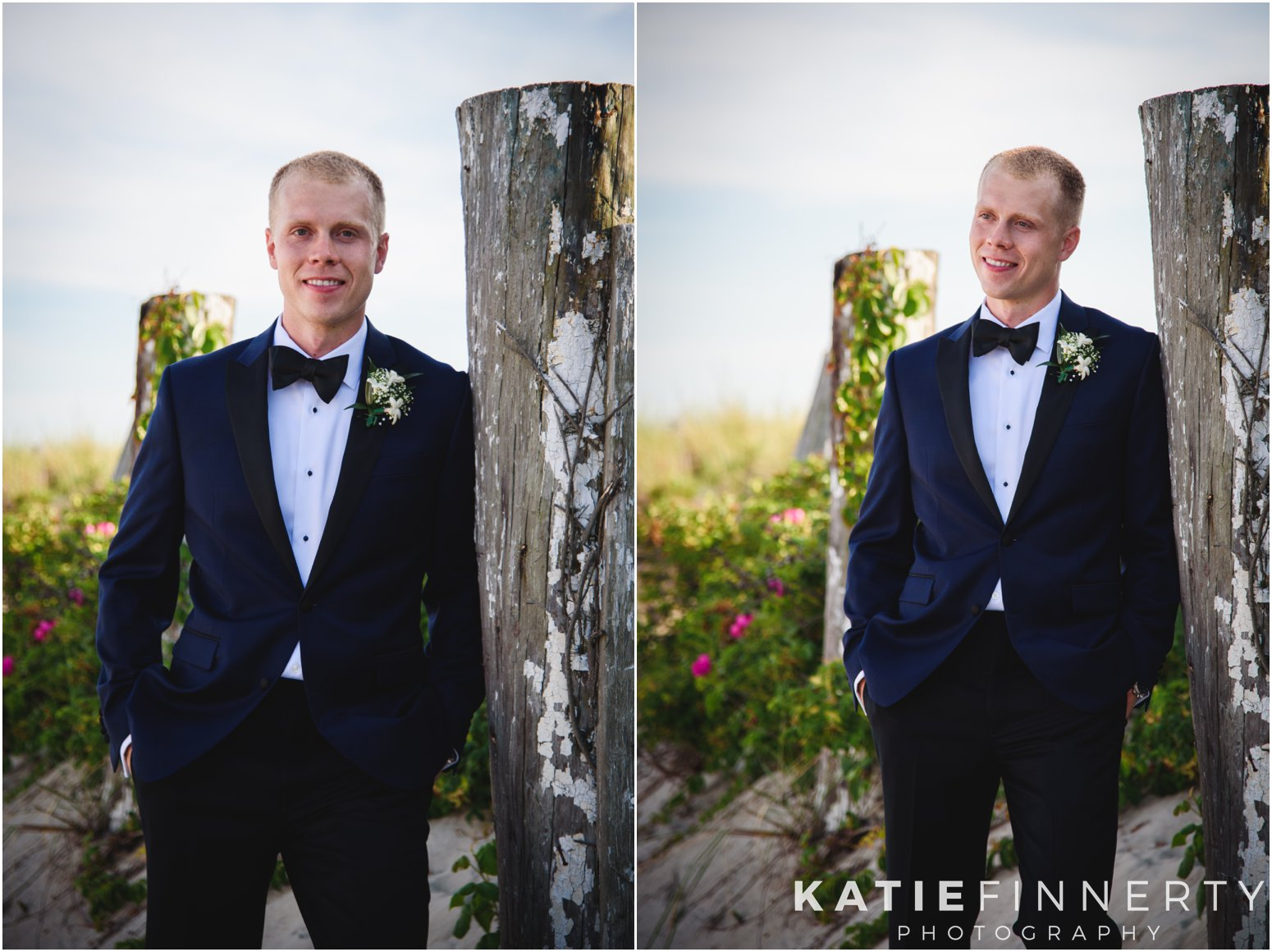 Long Island Beach Wedding Groom