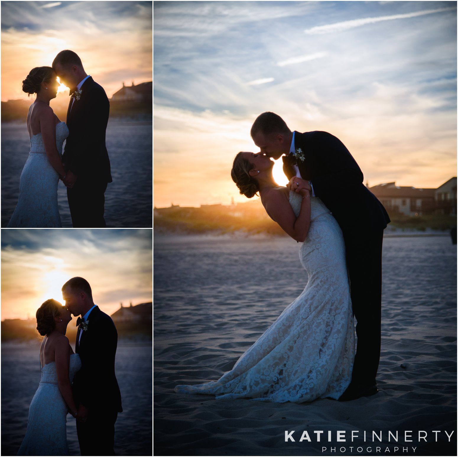 Long Island Beach Wedding Sunset