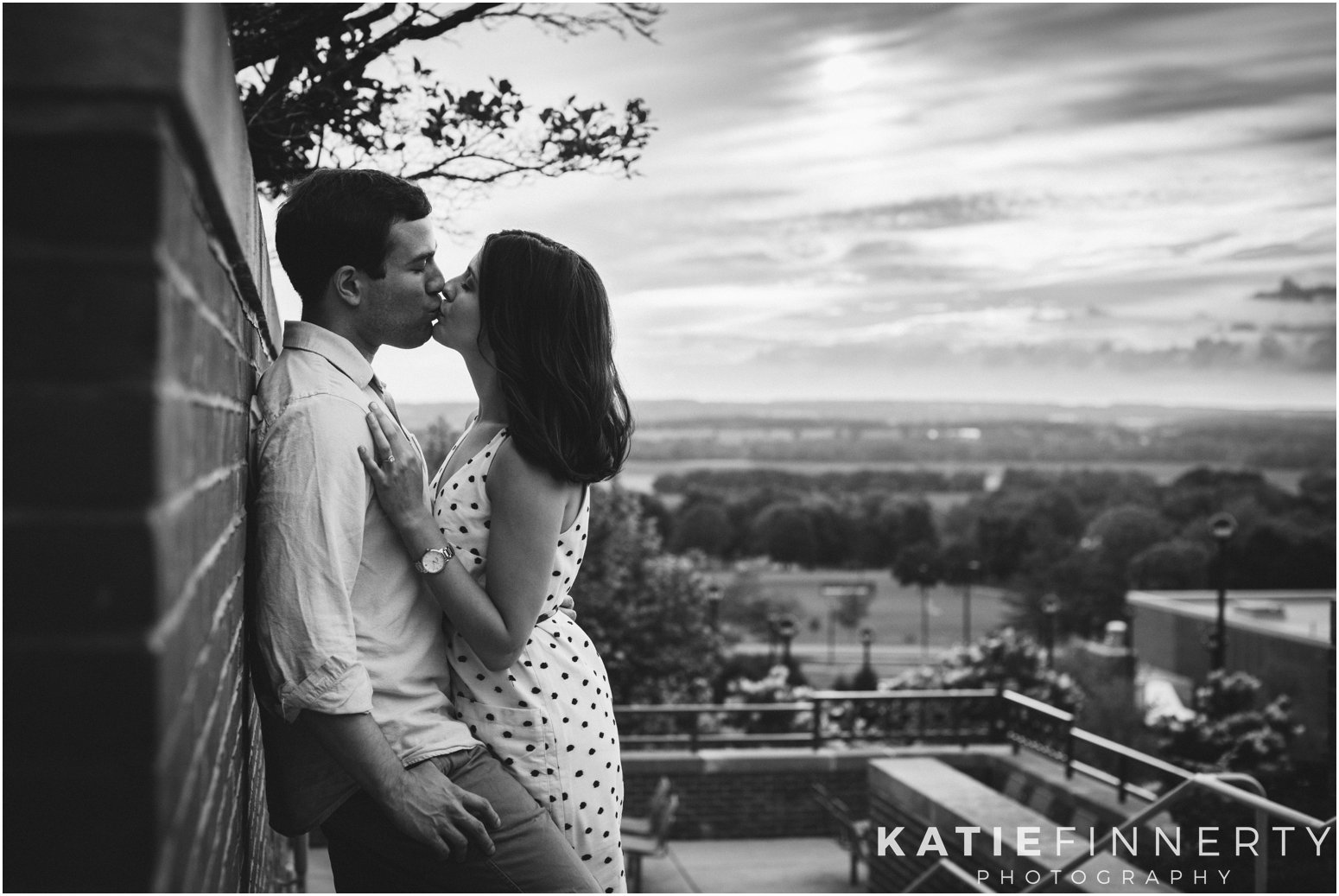 Geneseo Engagement Session Black and White