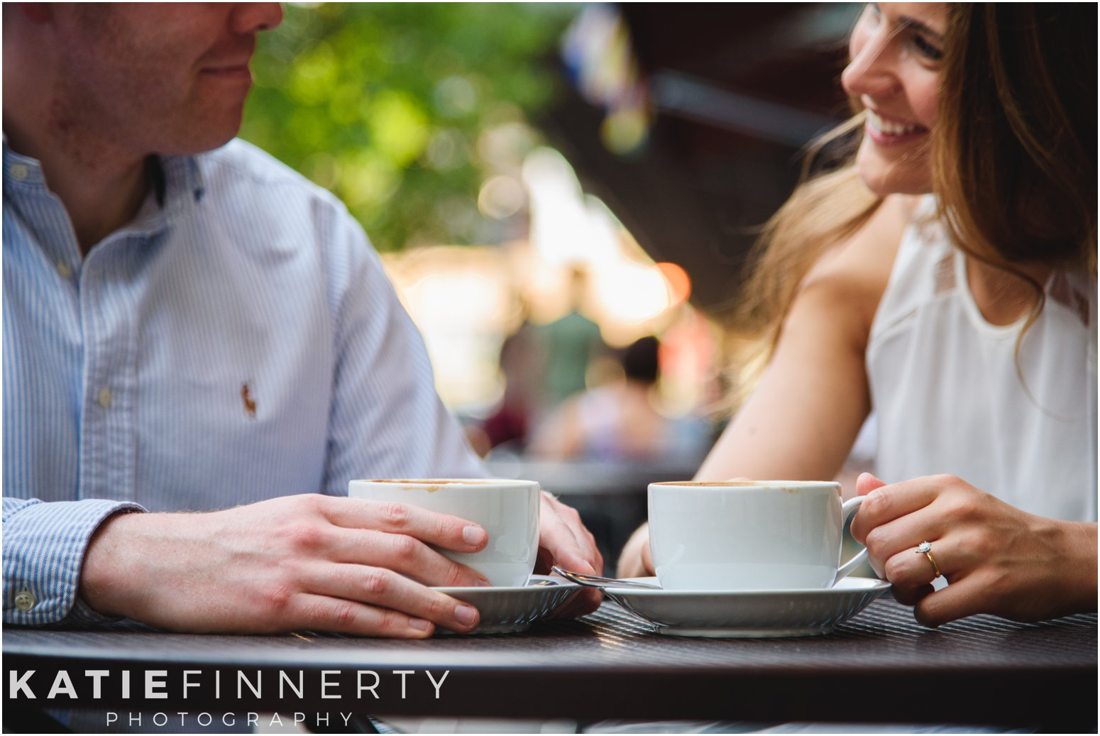 rochester coffee shop engagement session