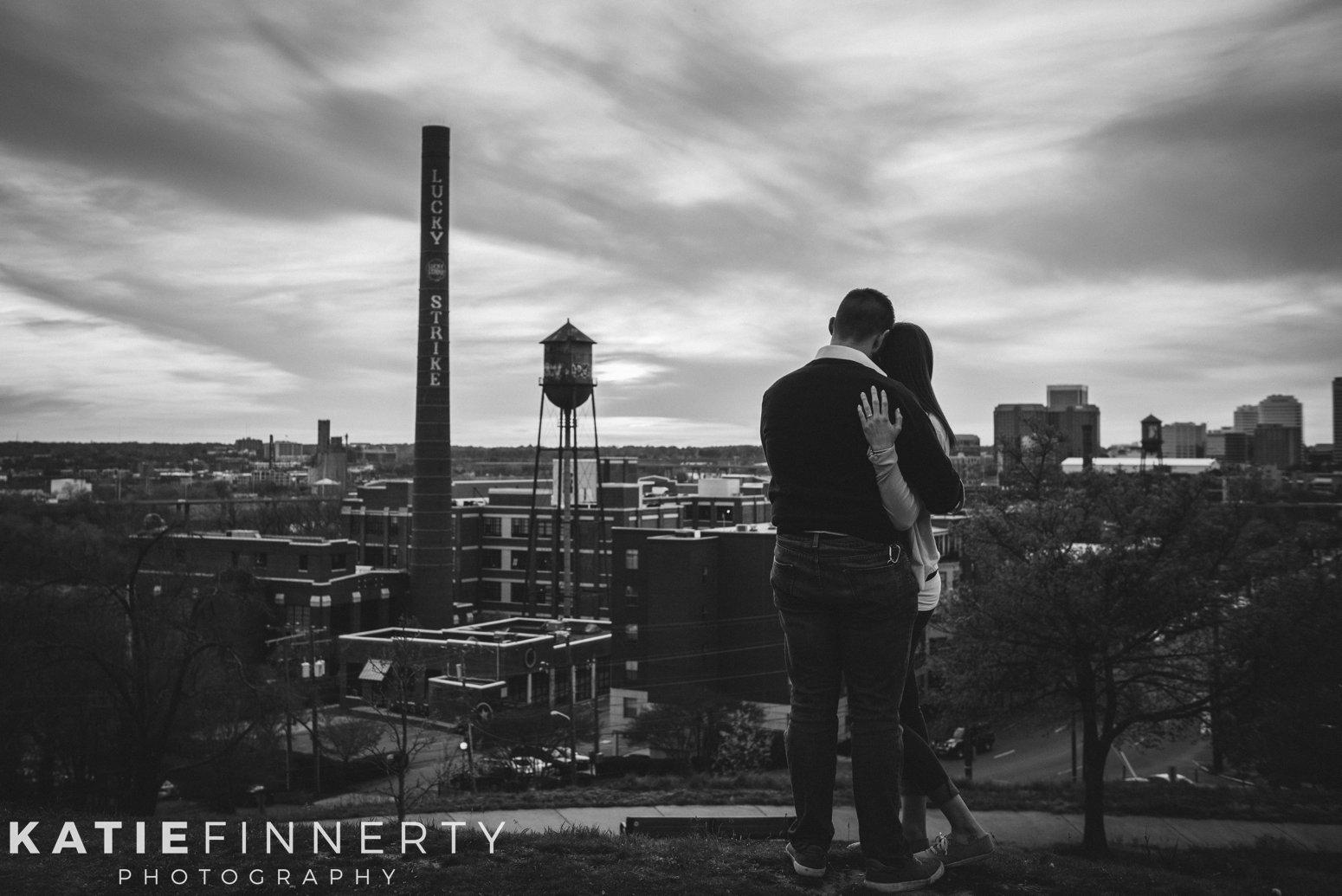 richmond libby hill sunset engagement photos
