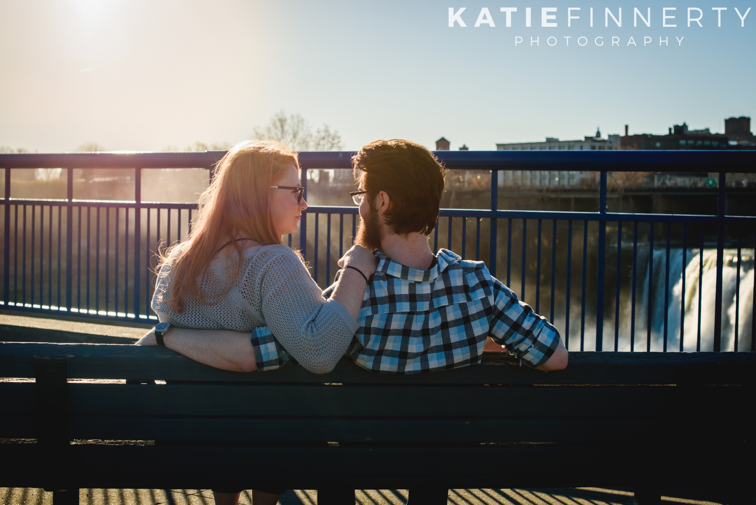 High Falls Rochester Engagement Session