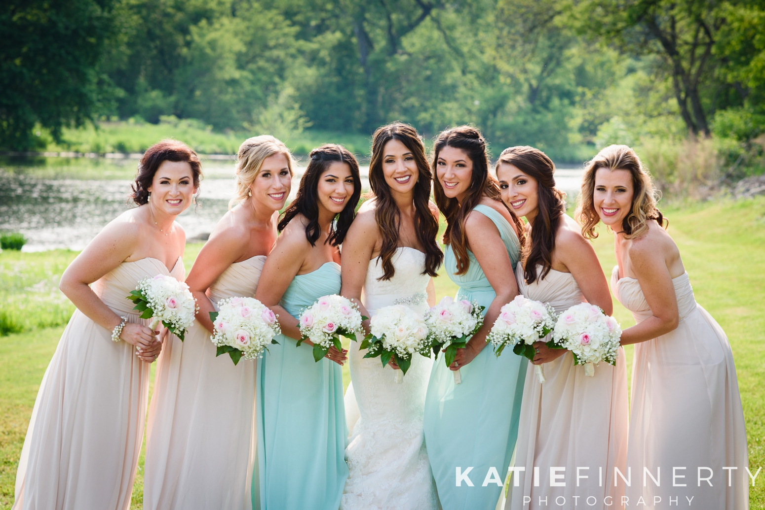 Pastel Mixed Color Bridesmaids Dresses