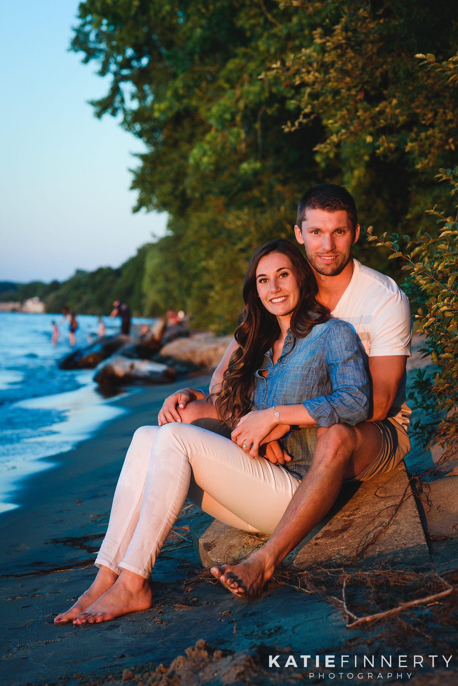 Rochester Beach Engagement Session