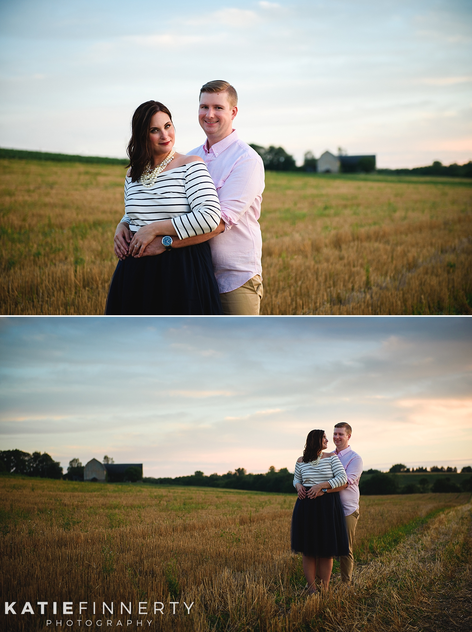 Rochester Sunflower Field Engagement Session