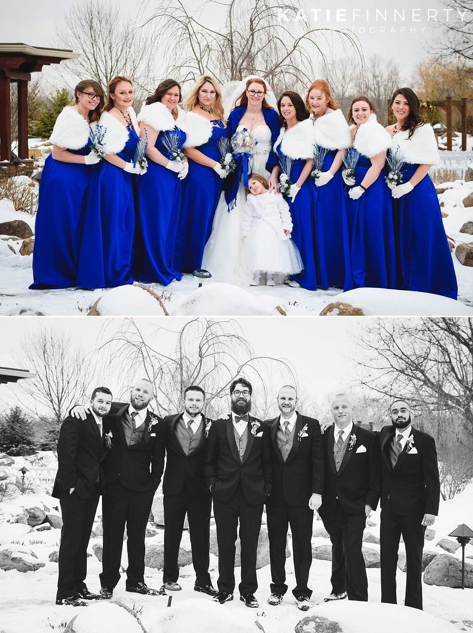 Deerfield Golf and Country Club Winter Wedding Photography